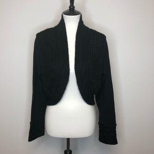 Lemmie For Nina Leopard Black Knit Srug